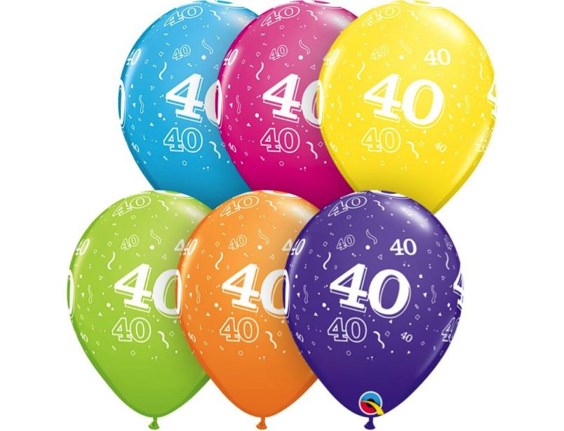 6 heliumballonnen leeftijd 40