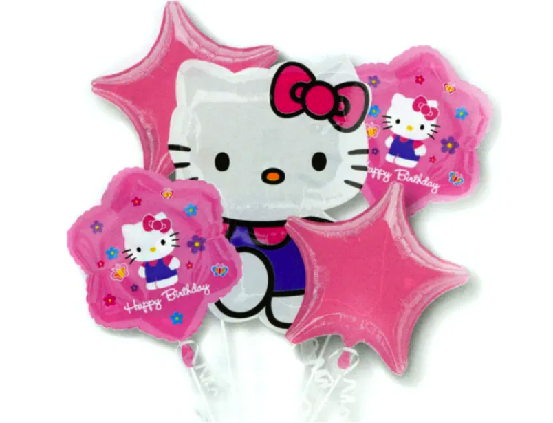 Ballonboeket Hello Kitty happy birthday