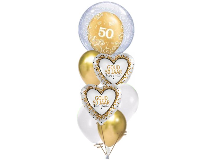 Ballonboeket 50 jarig huwelijk