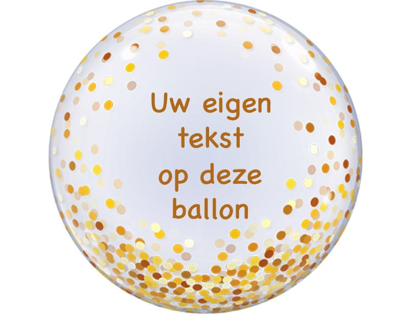 gold confetti bubble met eigen tekst