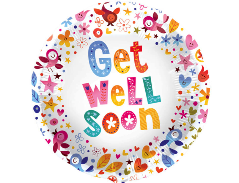 get well soon birds hearts and flowers
