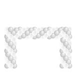 Ballonnenboog rechthoekig