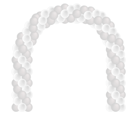 Ballonnenboog rond (meerdere formaten)