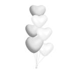 Trosje van 7 hartjes heliumballonnen