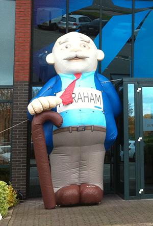 Abraham met wandelstok