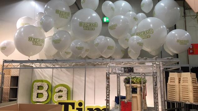 Ballondecoratie op beurzen en evenementen